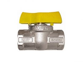 """1/2"""" BB gáz gömbcsap Flexum MOFÉM nikkelezett 31101012"""